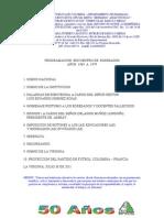 OFICIOS BODAS DE ORO programación