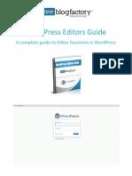 Free Blog Factory WordPress Editors Guide