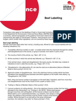 Beef Labelling Guidance