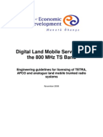 Engineering Guidelines for Trunked Radio Systems in the 800 Mhz Ts Band 97 Kb PDF