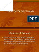 Presentation on Elasticity of Demand