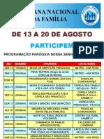 Semana da Família - Paróquia N S de Fátima