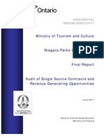 NPC Audit of Single Source Contracts and RGOs - Final Report 2011