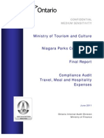 NPC Audit of Travel Meal Hospitality Expenses - Final Report 2011