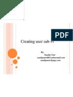 Creating User sub-Vi