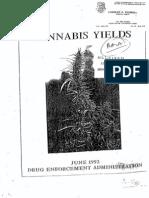 1992 Cannabis Yields DEA