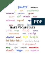 Math Vocabulary PDF