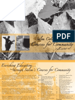 Salem College Courses for Community - Fall 2011