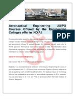 Best Aeronautical Engineering Colleges in India