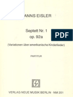 Eisler Septett Nr.1 Op. 92a