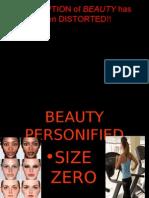 Size-zero Beauty Personified