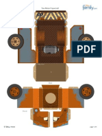 Cars2 Tow Mater Paper Craft Printable 0511
