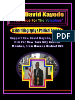 Rev. David Kayode- His Biography & Political Agenda/Platform As A Candidate For City Council Member Of New York City, From Queens District #28, New York City