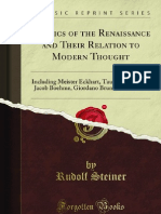 Rudolf Steiner - Mystics of the Renaissance and Their Relation to Modern Thought