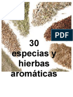30 Especias y Hierbas Aromatic As
