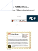 Free Reiki Certificate