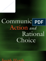 Communicative Action and Rational Choice (Studies in Contemporary German Social Thought) - Heath_ Joseph