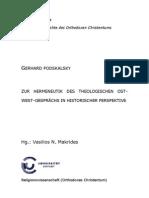 Podskalsky - Zur Hermeneutik Des Theologischen Ostwest