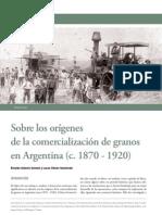 Comercialización granos 1870-1920