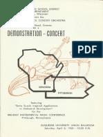 TREMPER HIGH SCHOOL CONCERT ORCHESTRA DEMONSTRATION CONCERT April 6, 1968