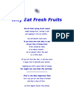 Make It Habbit of Eating Fresh Fruits on an Empty Stomach