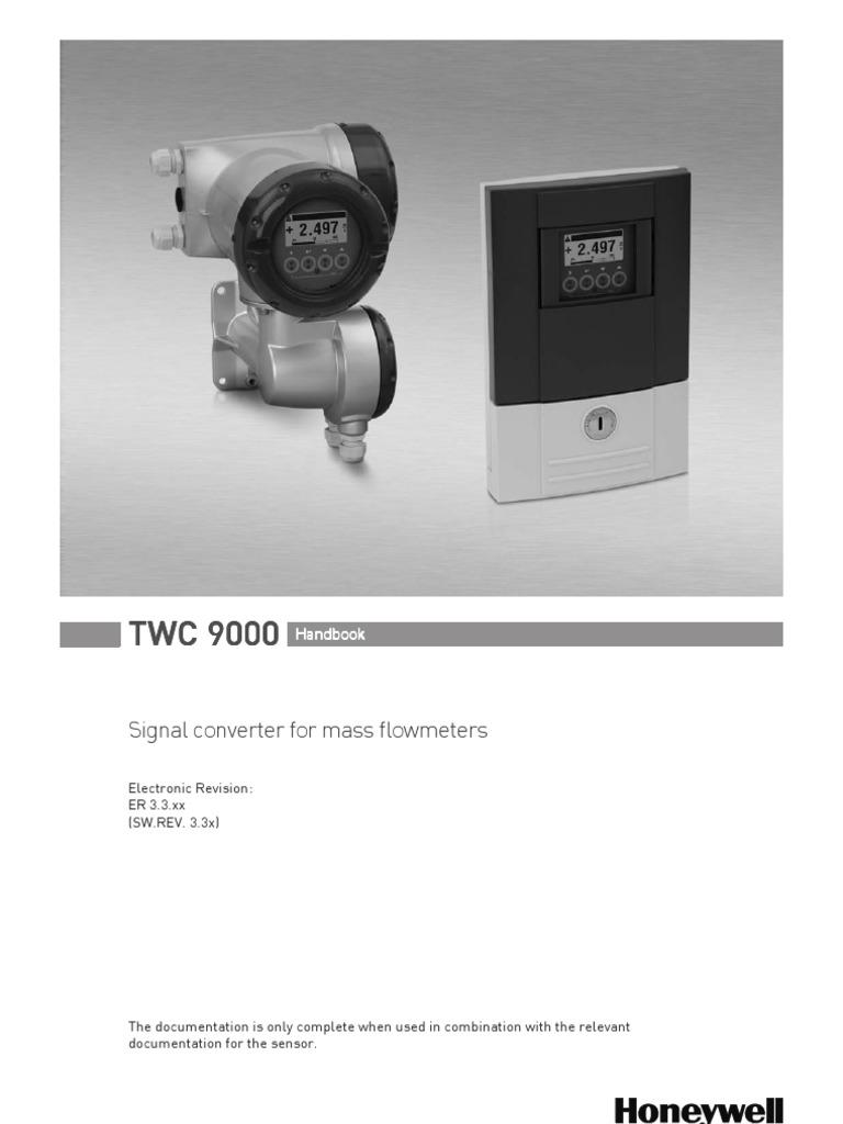 Manual Flujmetro Coriolis34vf2528 Power Supply Cable Honeywell Smart Vfd Compact