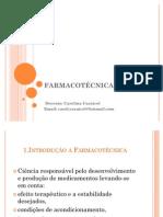 INTRODUÇÃO A FARMACOTECNICA