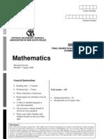 Cssa 2006 Math 2u + Solutions