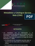 Metadatos y Catalogue Service Web (CSW)