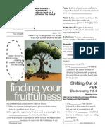 Fruitfulness 4 Deut 1_6-8 Handout 080711