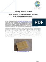 How Do Fair Trade Retailers Adhere to Our Shared Principles