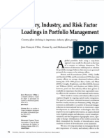 Country, Industry and Factor Risk Loading in Portfolio Management