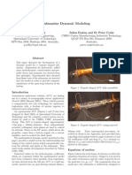 Submarine Dynamic Modeling