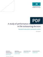Cid Ressum a Study of Performance Measurement in the Outsourcing Decision Dec08