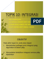 TOPIK 10 INTEGRASI