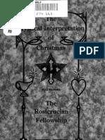 Max Heindel - Mystical Interpretation of Christmas (1920) (72 Pgs)