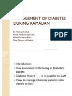 DM and Ramadhan-Dr Hanisah Arsyad