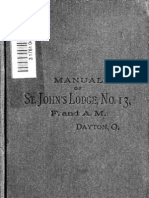 Manual of St. John's Lodge, No. 13, Free and Accepted Masons of Dayton, Ohio (January 10, 1812)