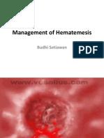 Management of Hematemesis