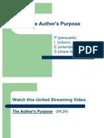 The Author's Purpose 2