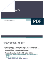 Tablet pc'