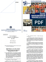 OCD-NDRRMC - Republic Act 10121 & Irr - 4 July 2011