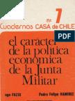 Fazio y Ramirez - El carácter de la política económica de la Junta Militar.
