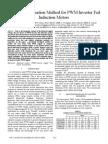 Core Loss Estimation Method for PWM Inverter Fed Induction Motors