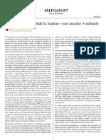 23 décembre 2008 Pétrole russe «Dédé la Sardine» veut arracher 4 milliards de dollars à Total