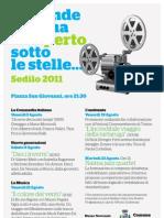Programma Cinema all'aperto a Sedilo