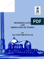Homosexuality, Ordination of Women