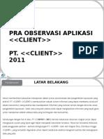 Presentation - Application Observation
