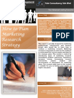 How to Plan Marketing Research Strategy