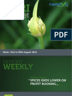 Agri Commodity Reports for the Week (1st - 5th August '11)